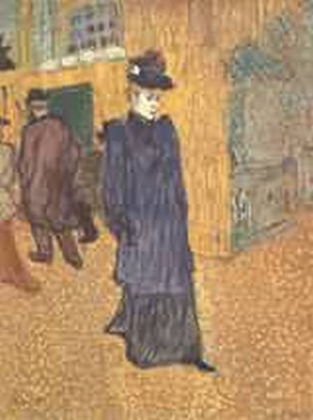 Jane Avril Leaving the Moulin Rouge Late 1800s